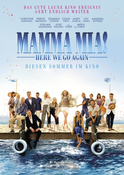 Mamma Mia! Here we go again - Kinostart: 19.07.2018